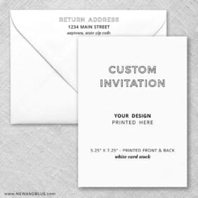 Pearl Card Stock Rounded Corners Portrait Orientation Design Your Own Invitation