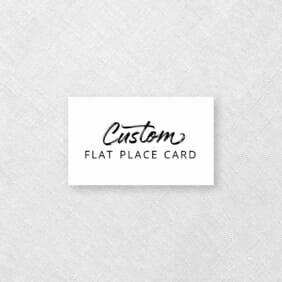 Custom Flat Place Card 1000X1000