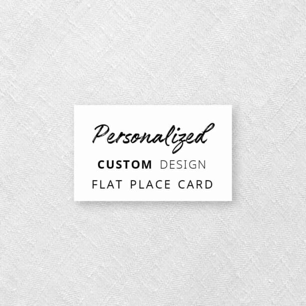 Personalized Flat Custom Place Card