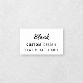 Blank Flat Custom Place Card
