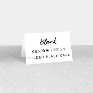 Blank Folded Custom Place Card