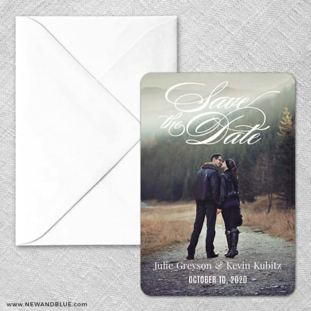 Luminous Love Classic Save The Date Magnet