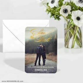 Luminous Love 5 Wedding Save The Date Foil Magnets With Envelope