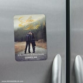 Luminous Love 3 Refrigerator Foil Save The Date Magnets