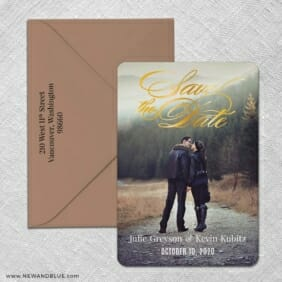 Luminous Love 2 Foil Save The Date With Optional Color Envelope