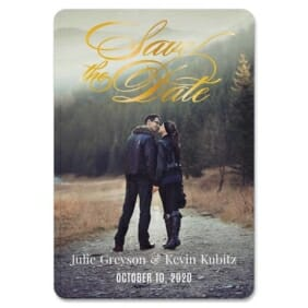 Luminous Love 1 Save The Date Foil Magnets