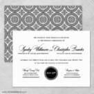 Park Avenue Nb Wedding Invitation With Back Printing