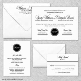 Park Avenue Nb Wedding Invitation And Rsvp