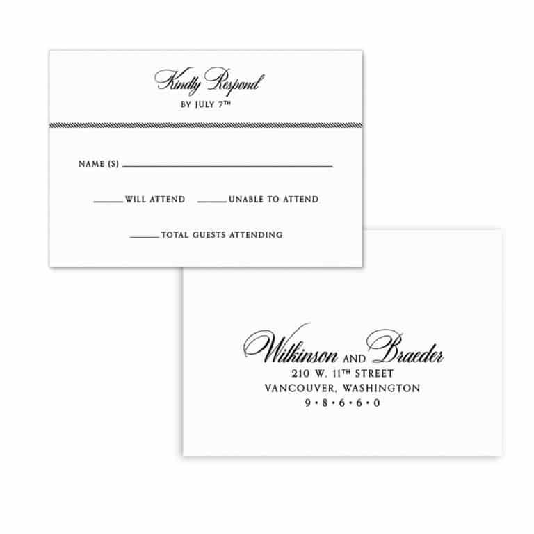 Park Avenue Nb Rsvp Card And Envelope White Back