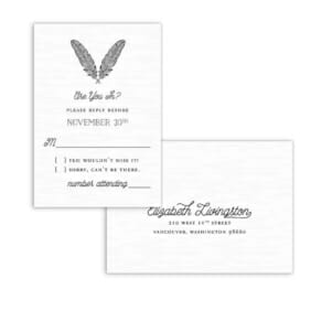Scout Nb Rsvp Card And Envelope White Back