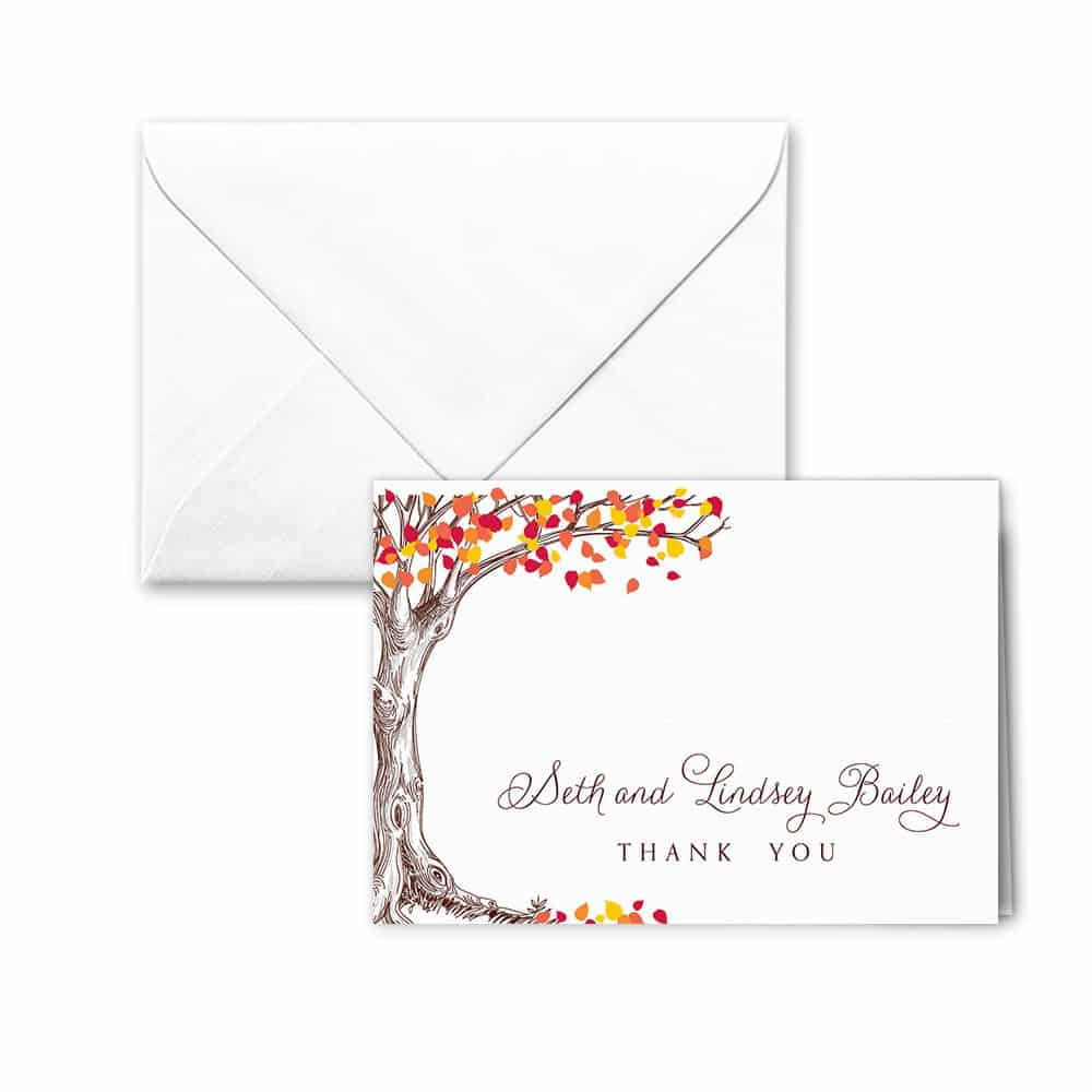 Celebration Love Nb Thank You Card And Envelope White Back