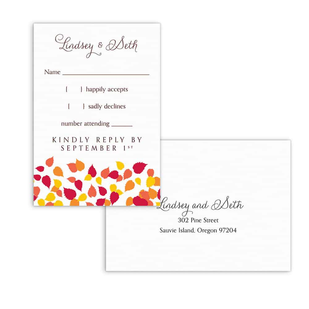 Celebration Love Nb Rsvp Card And Envelope White Back