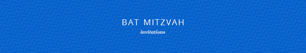 Bat Mitzvah Invitations Shop Now