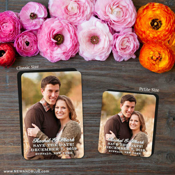 Rachel 2 Save The Date Magnet Classic And Petite Size1