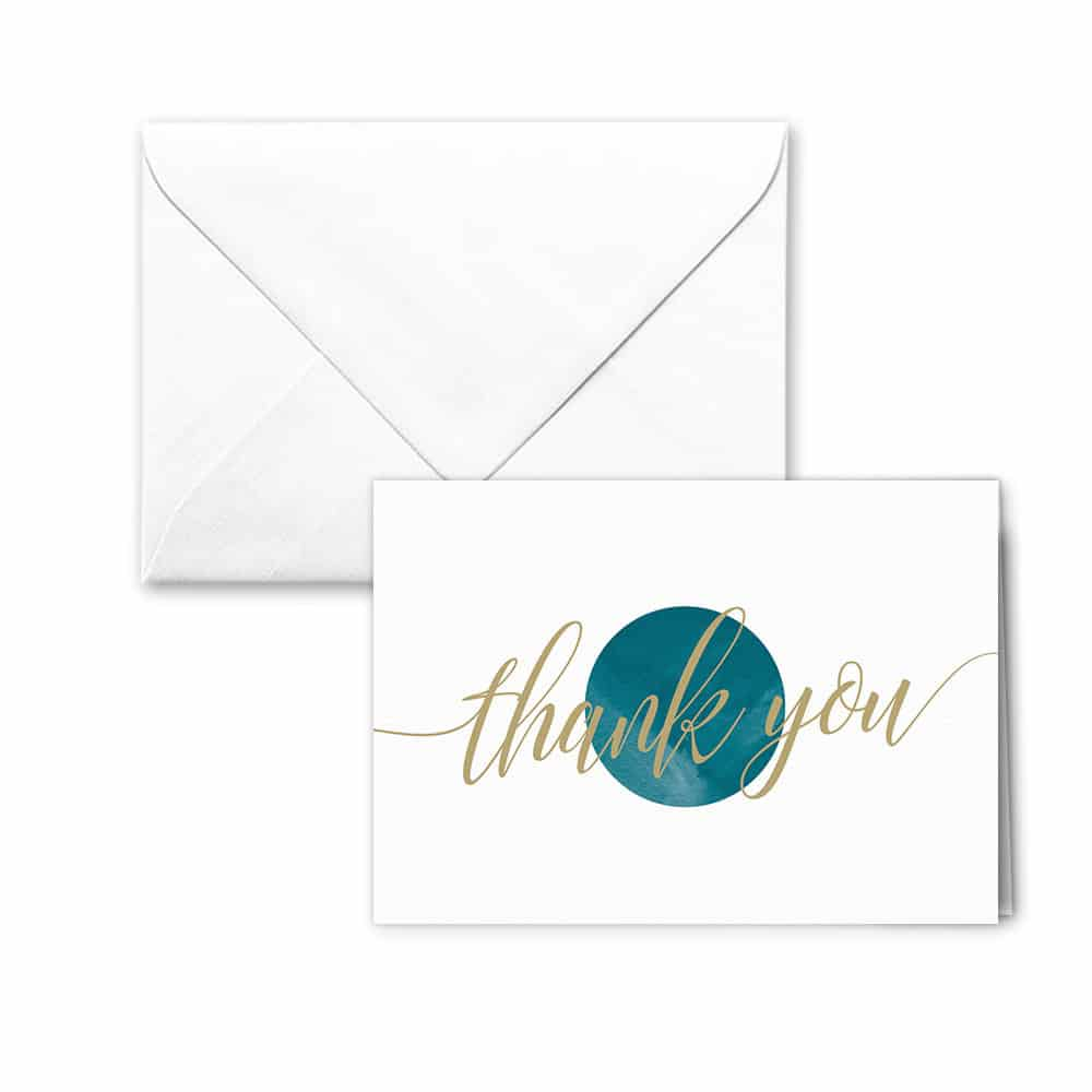 Estrella Nb Thank You Card And Envelope White Background