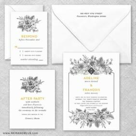 Harlow Nb Wedding Invitation And Rsvp