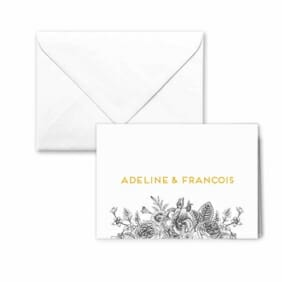 Harlow Nb Thank You Card And Envelope White Background