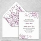 Ballroom Nb Wedding Invitation With Envelope Liner
