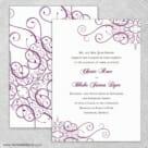 Ballroom Nb Wedding Invitation With Back Printing