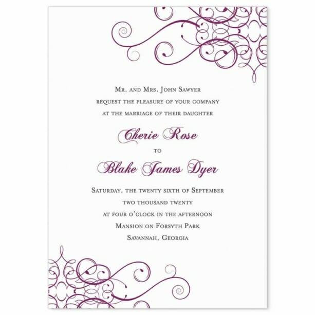 Ballroom Nb Wedding Invitation