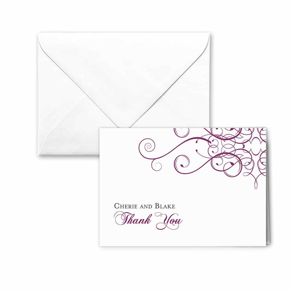 Ballroom Nb Thank You Card And Envelope White Back