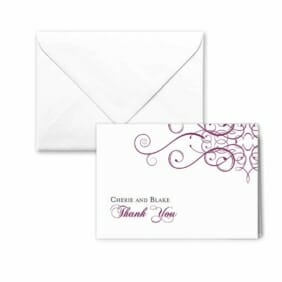 Ballroom Nb Thank You Card And Envelope White Back