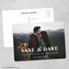 Sincerely Yours Nb Save The Date Wedding Postcard Front And Back