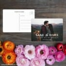 Sincerely Yours Nb Save The Date Postcard With Back Etsy