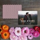 Sincerely Yours Nb Save The Date Card With Back Printing
