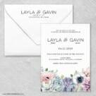 Botanical Wedding Invitation With Envelope