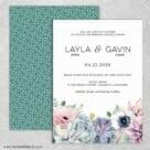 Botanical Wedding Invitation With Back Printing