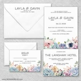 Botanical Wedding Invitation And Rsvp