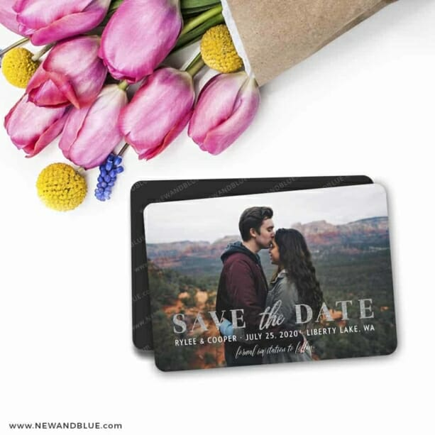 Sincerely Yours Wedding Save The Date Magnets