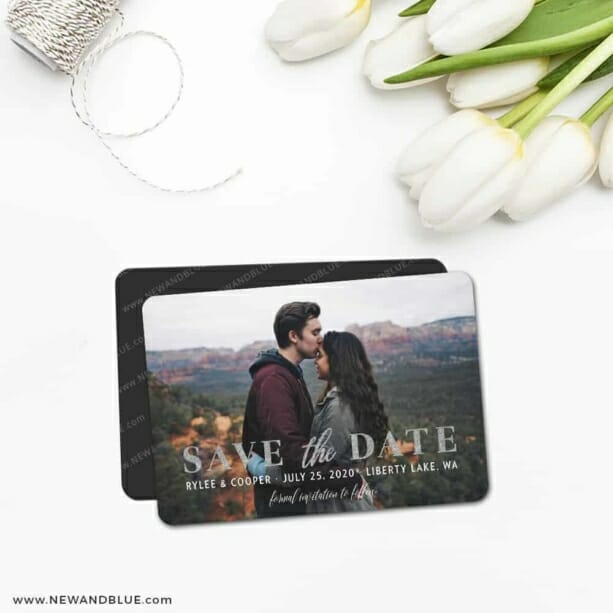 Sincerely Yours Nb 5 Save The Date Magnet