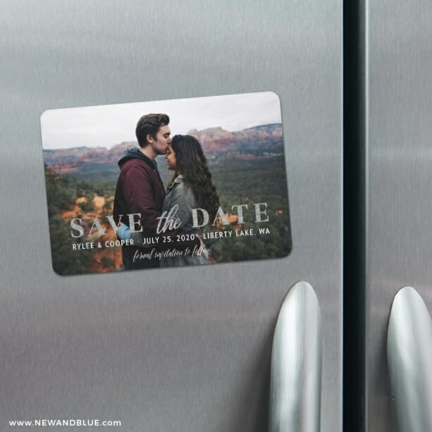 Sincerely Yours Nb 4 Refrigerator Save The Date Magnets