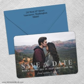 Sincerely Yours Nb 3 Save The Date With Optional Color Envelope