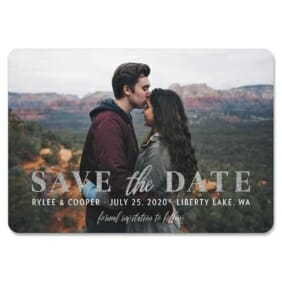Sincerely Yours Nb 1 Save The Date Magnets Foil