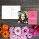 Modern Bat Mitzvah Save The Date Postcard With Back Etsy