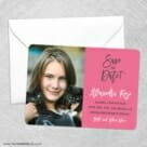 Modern Bat Mitzvah Save The Date Party Card