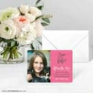 Modern Bat Mitzvah Save The Date Card With Envelope