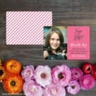 Modern Bat Mitzvah Save The Date Card With Back Printing