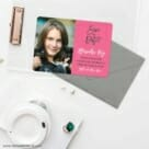 Modern Bat Mitzvah Save The Date Cards And Optional Color Envelopes
