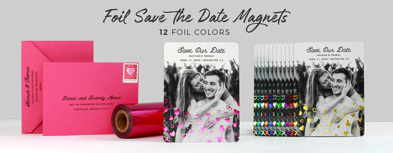 Foil Save The Date Magnets