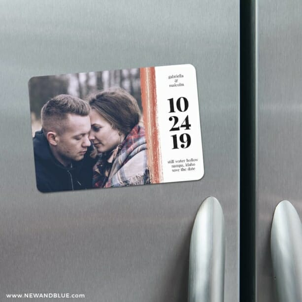 Stroke Of Luck 4 Refrigerator Save The Date Magnets