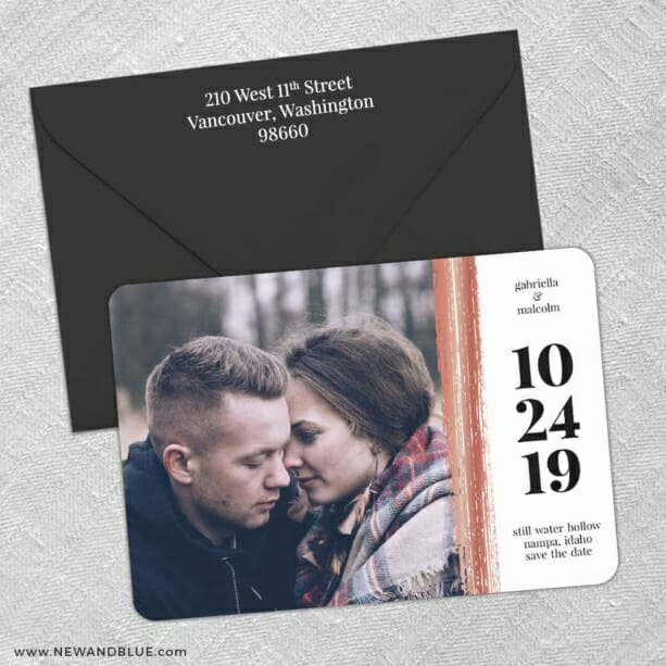 Stroke Of Luck 3 Save The Date With Optional Color Envelope
