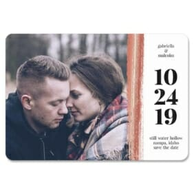 Stroke Of Luck 1 Save The Date Magnets Foil