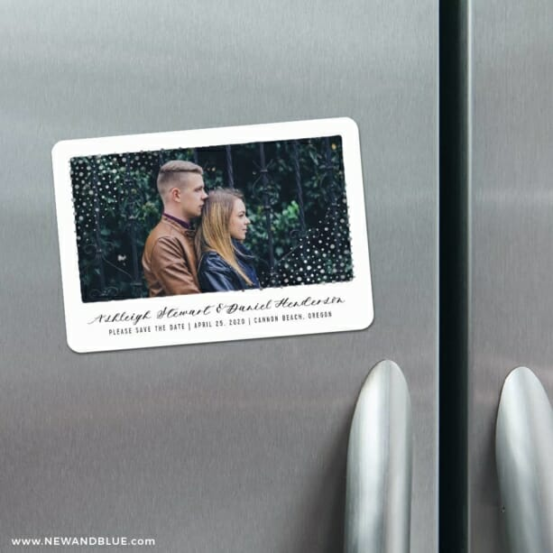 Gleaming Frame 4 Refrigerator Save The Date Magnets