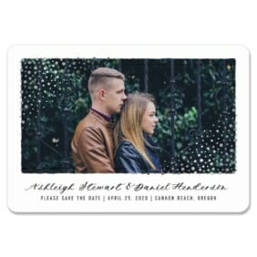 Gleaming Frame 1 Save The Date Magnets Foil