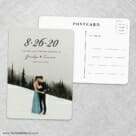Simply Smitten Save The Date Wedding Postcard Front And Back