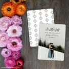 Simply Smitten Save The Date Card With Back Printing